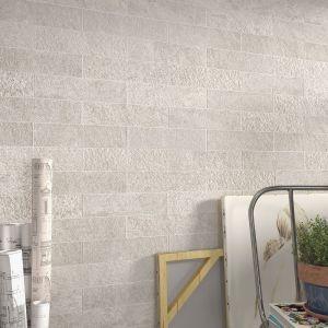 Carrelage Mirambel ivoire 7,5x30 cm pour mur
