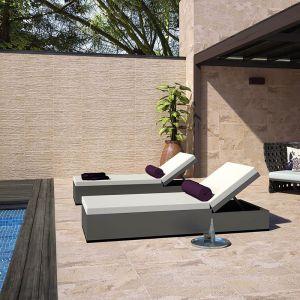 Carrelage relieve Arcata stone beige 30x60 cm pour sol et mur