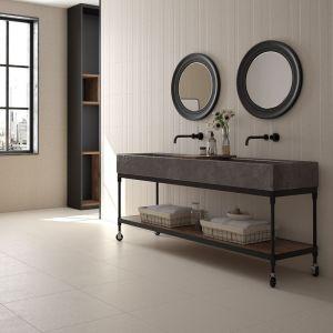 Carrelage Relieve Limestone ivoire 40x120 cm pour mur