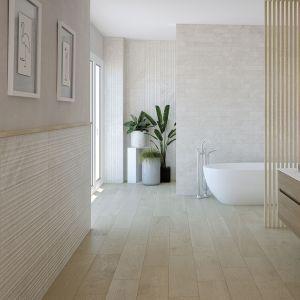 Carrelage Relieve Mirambel ivoire 30x90 cm pour mur