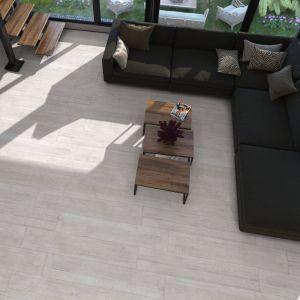 Carrelage parquet Amberes blanc 23,3x120 cm
